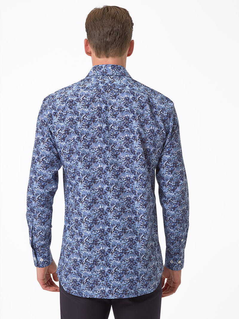 Luxury-Floral-Print-Shirt-Blue