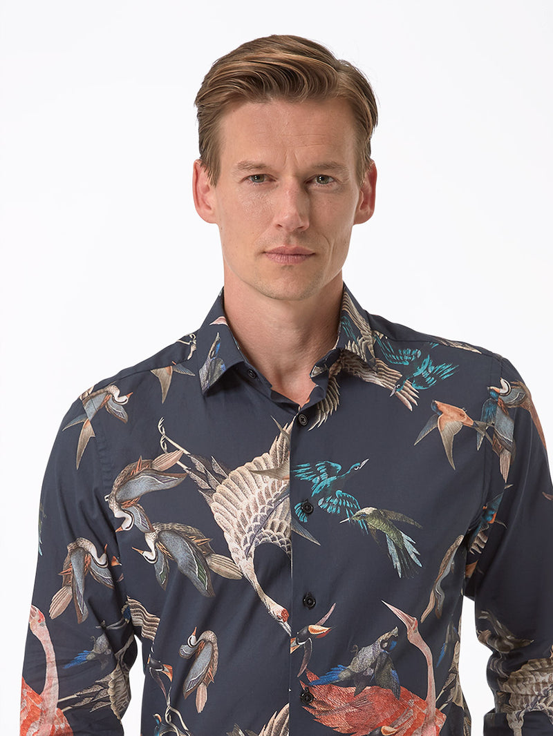 Mens-Birds-Shirt