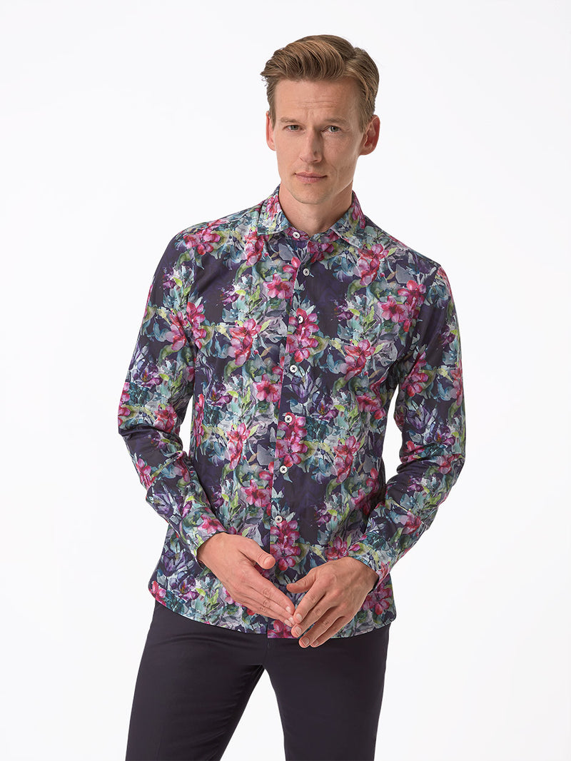 Imogen Floral Print Shirt Purple
