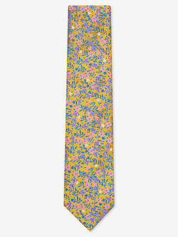 Micro-Floral-Tie-Yellow