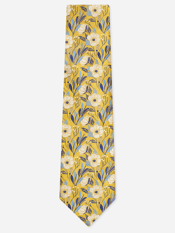 Solst-Floral-Tie-Yellow