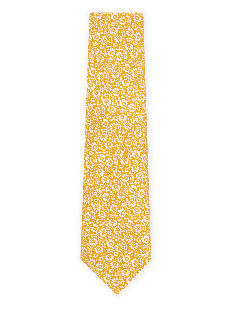 Pansy-Two-Colour-Tie-Yellow