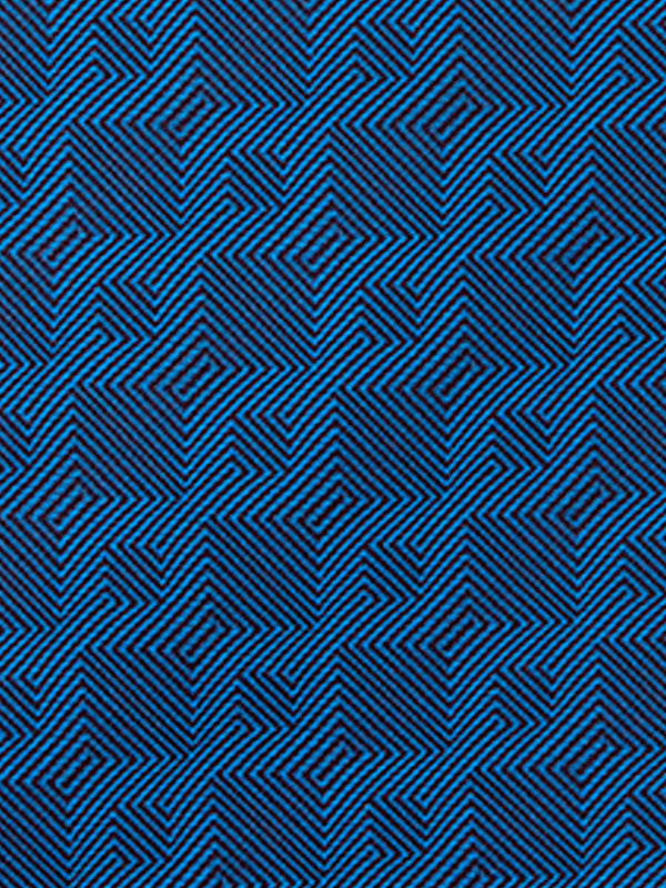 Geometric Plain Tie Blue