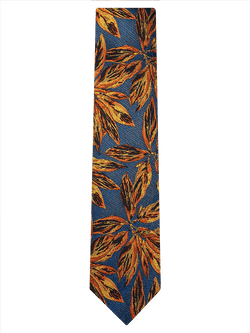 Painted Floral Tie Yellow