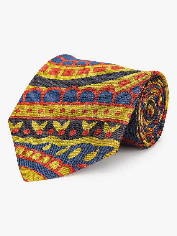 Mega Paisley Tie Orange.