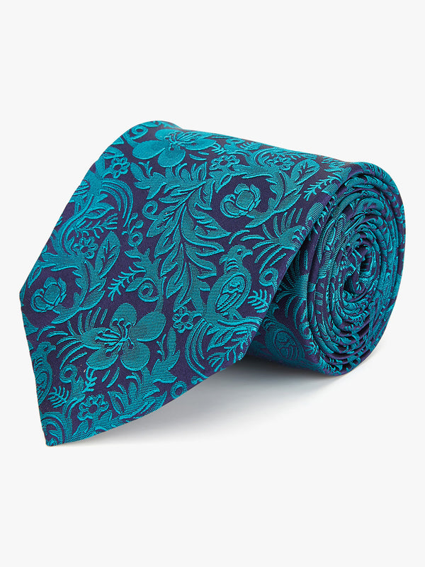 Duotone Floral Tie Green.