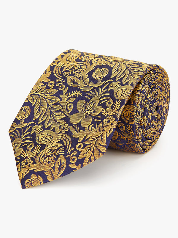 Duotone Floral Tie Yellow.