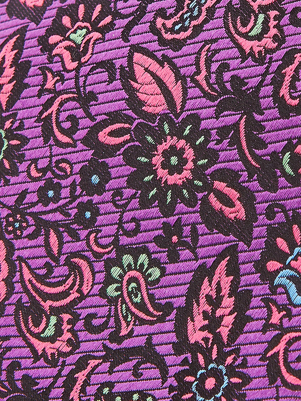 Dragonfly Paisley Tie Purple.