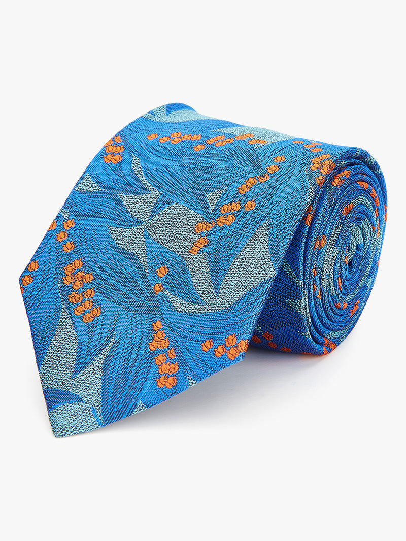 Bluebell Floral Tie Turquoise.