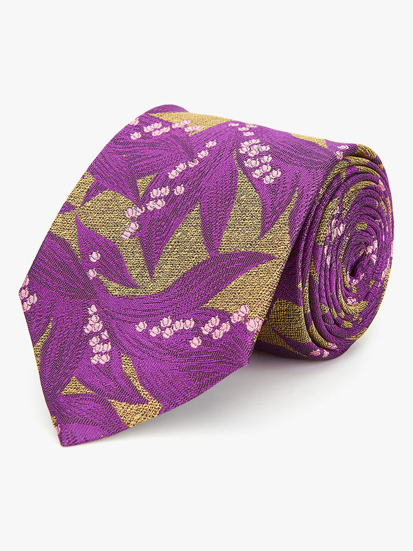 Bluebell Floral Tie Purple.