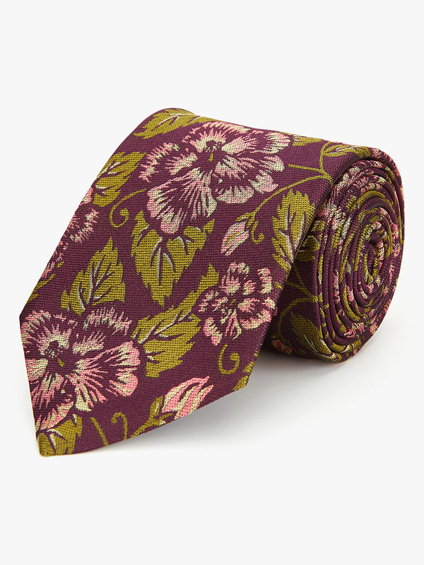 Ion Floral Tie Purple.