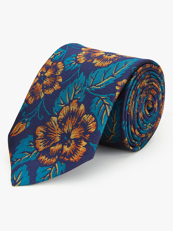Ion Floral Tie Orange.