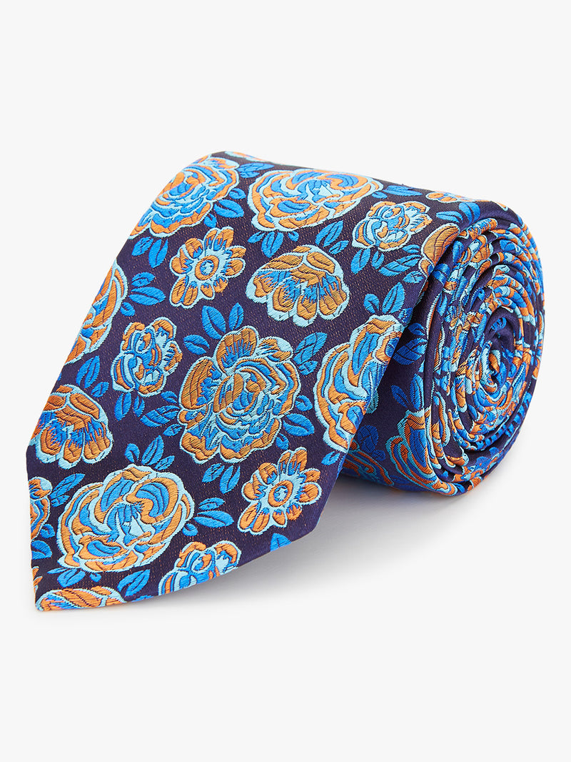 Bubble Floral Tie Orange.
