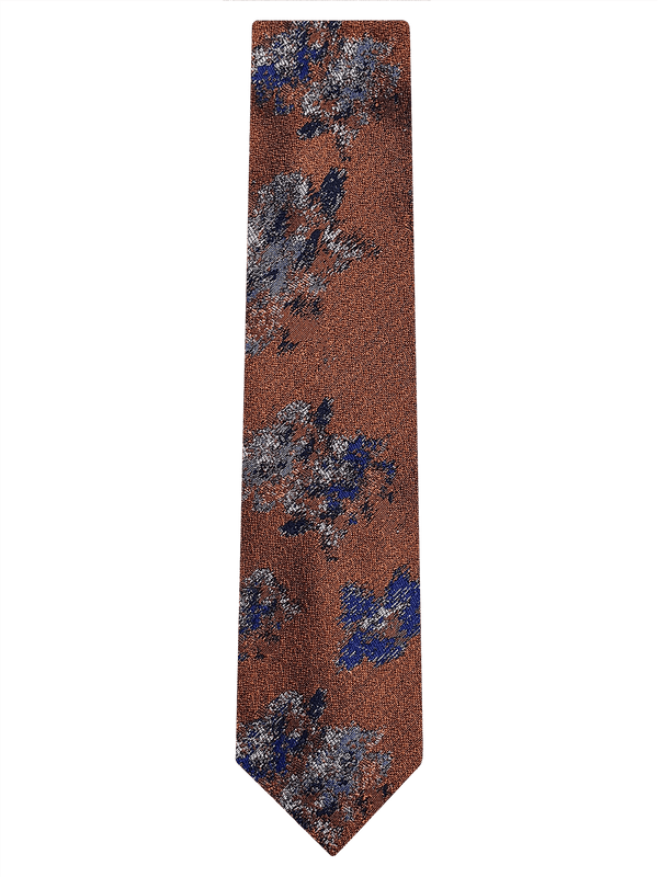 Painted Floral Tie Orange