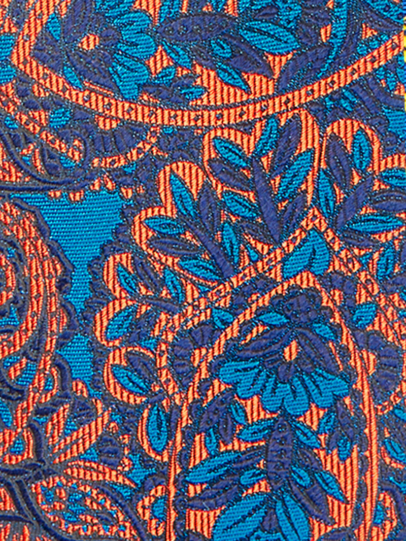 Floral Paisley Tie Orange