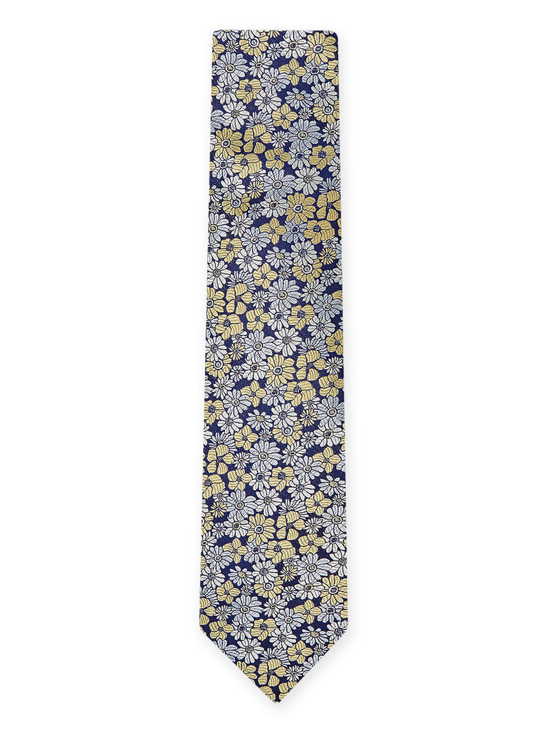 Pastel Floral Tie Yellow