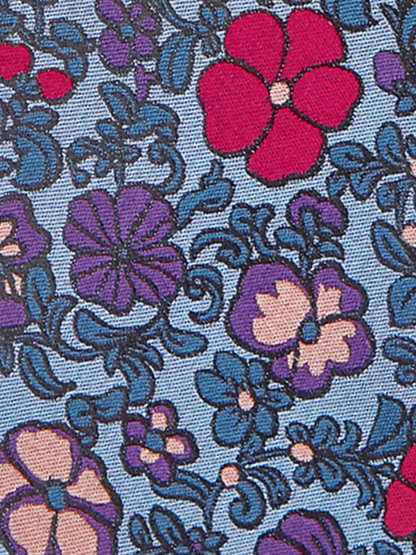 Patch Foral Tie Blue