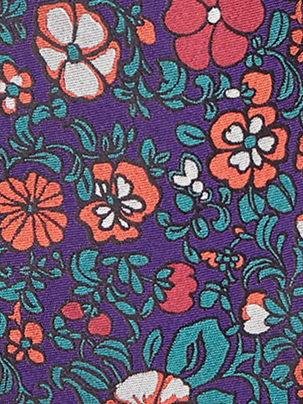 Patch Floral Tie Purple