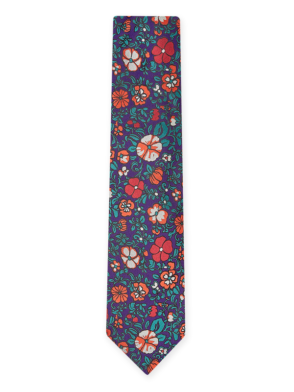 Patch Foral Tie Purple