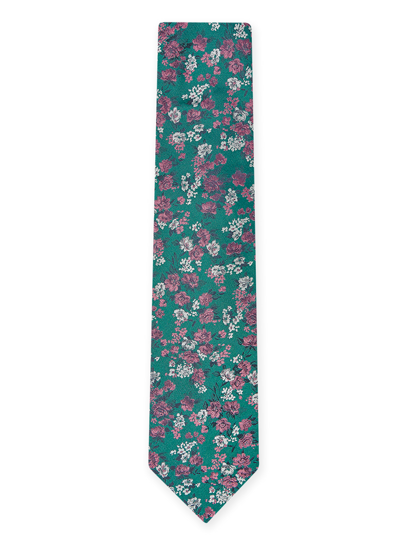 Flash Floral Tie Green