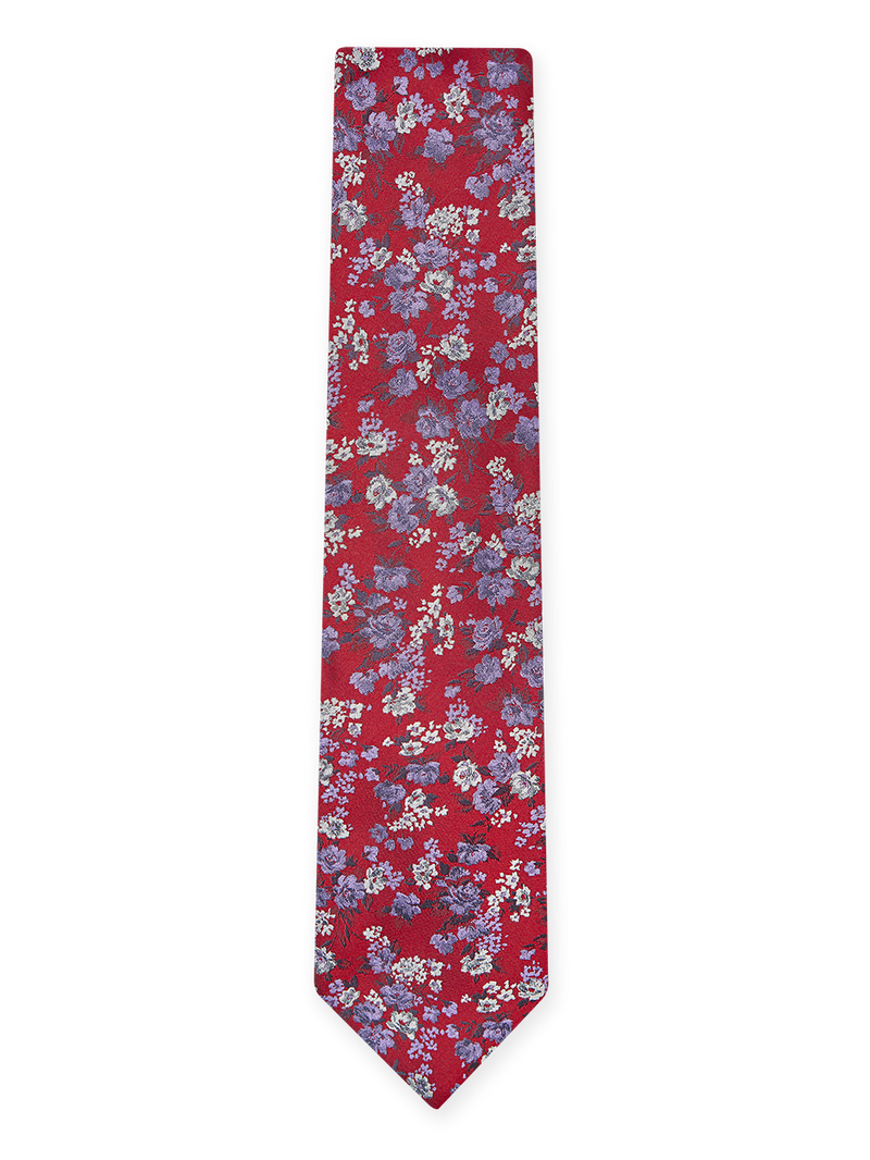Flash Floral Tie Red