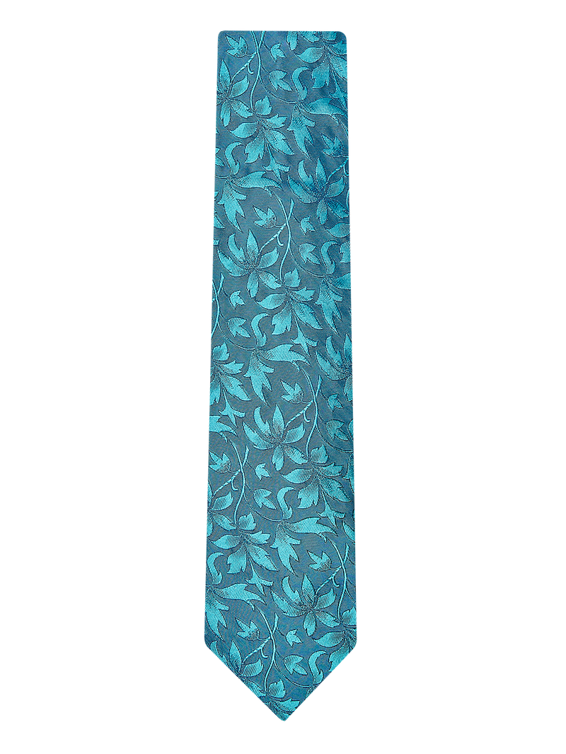 Loral Floral Tie Turquoise