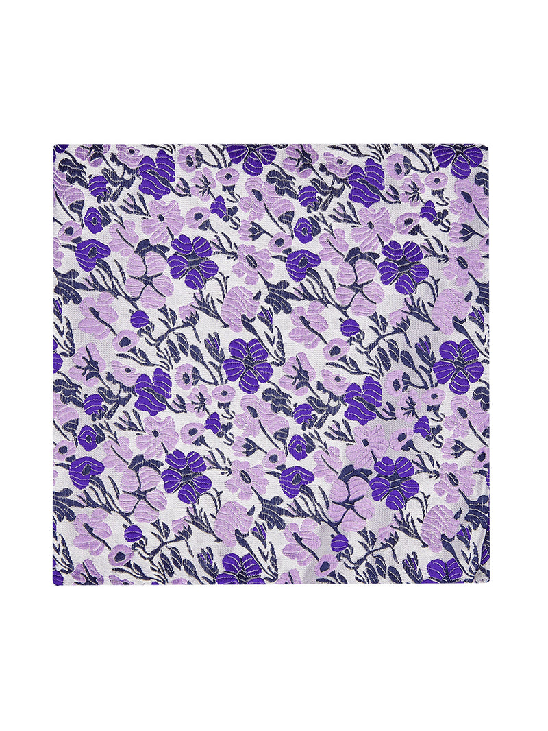 Vespa Floral Pocket Square Purple