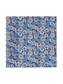 Pastel Floral Pocket Square Blue