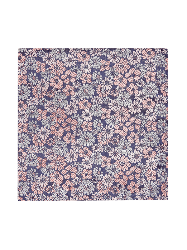 Pastel Floral Pocket Square Pink
