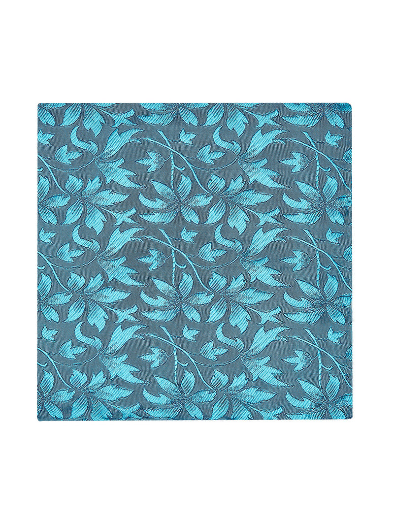 Loral Floral Pocket Square Turquoise