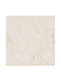 Loral Floral Pocket Square White