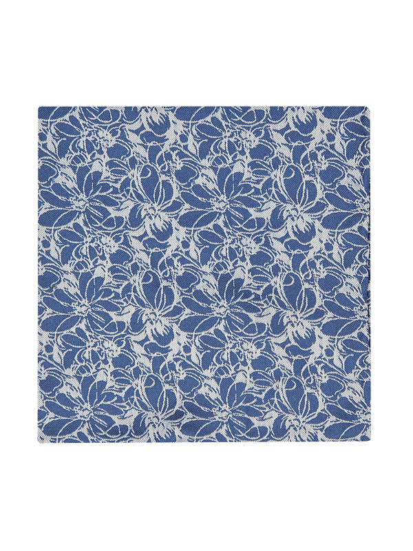 Sketch Floral Pocket Squares Navy