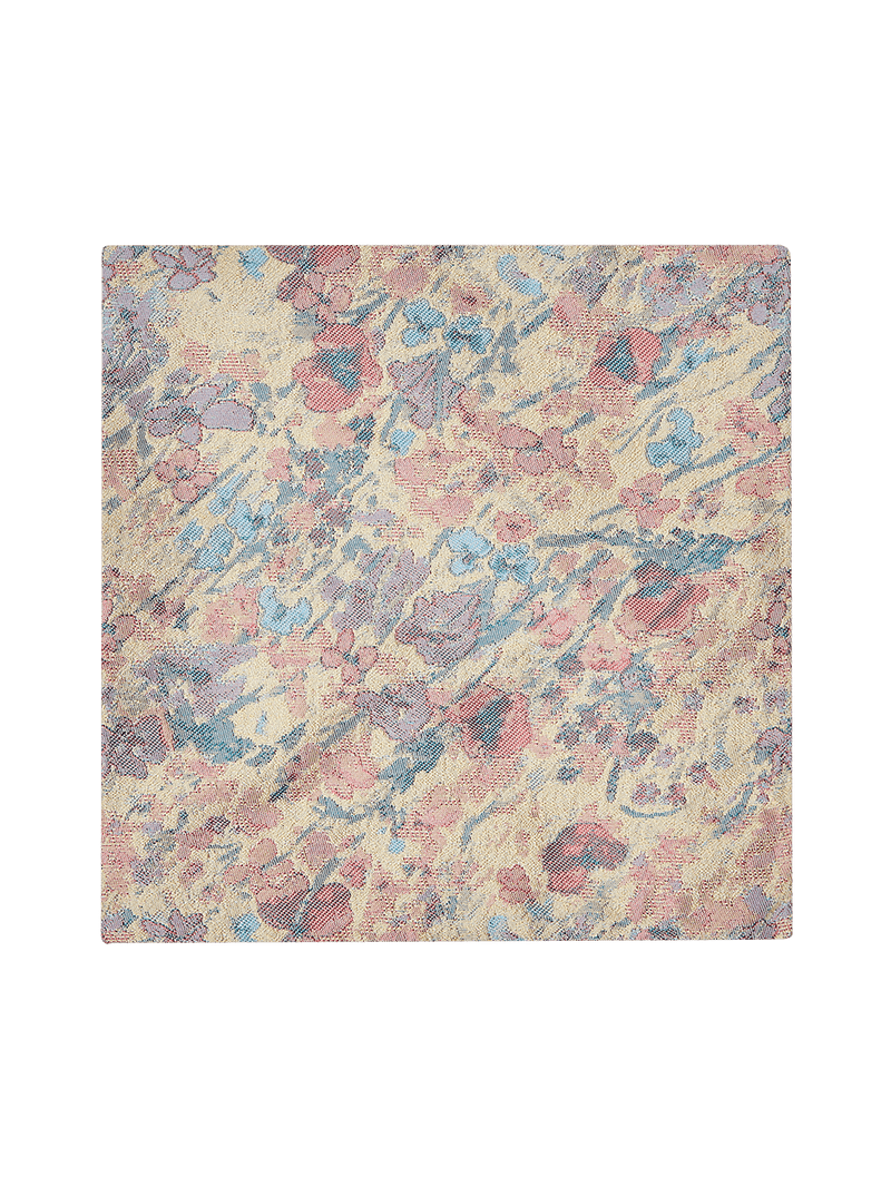 Pastoral Floral Pocket Square Blue