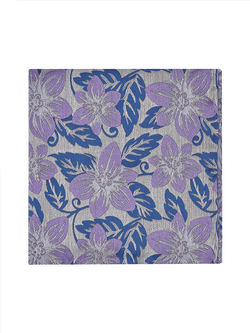 Garden Floral Pocket Square Purple