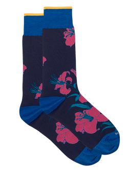 Lillie Floral Sock Navy