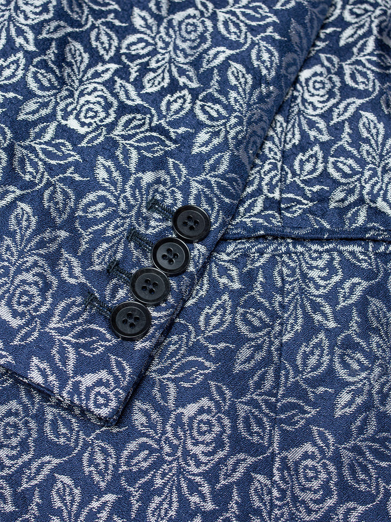 Shawl Lacy Floral Jacket Navy