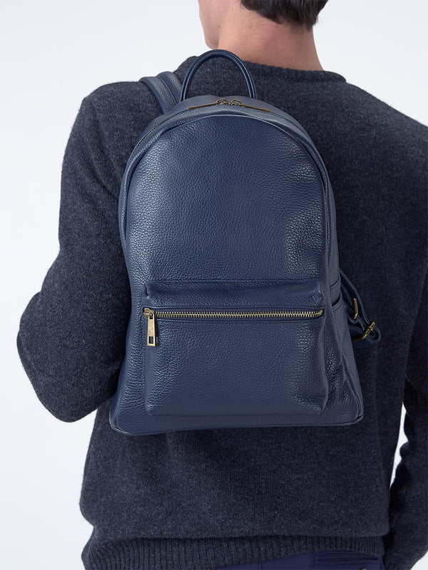 Mens-Leather-Backpack