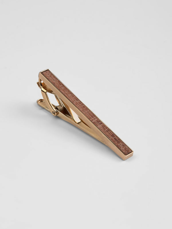 Wood Tie Clip Yellow
