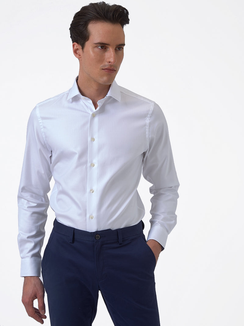 Herringbone-Contrast-Shirt-White