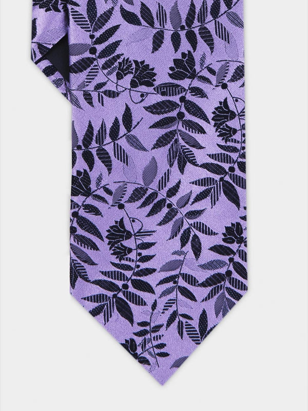 Tropical Floral Tie Purple