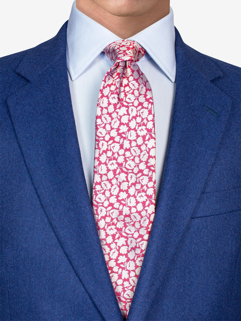 Two Colour Floral Tie Pink