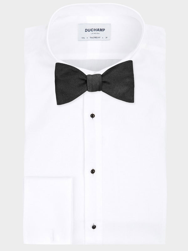 Plain Satin Bow Tie Black