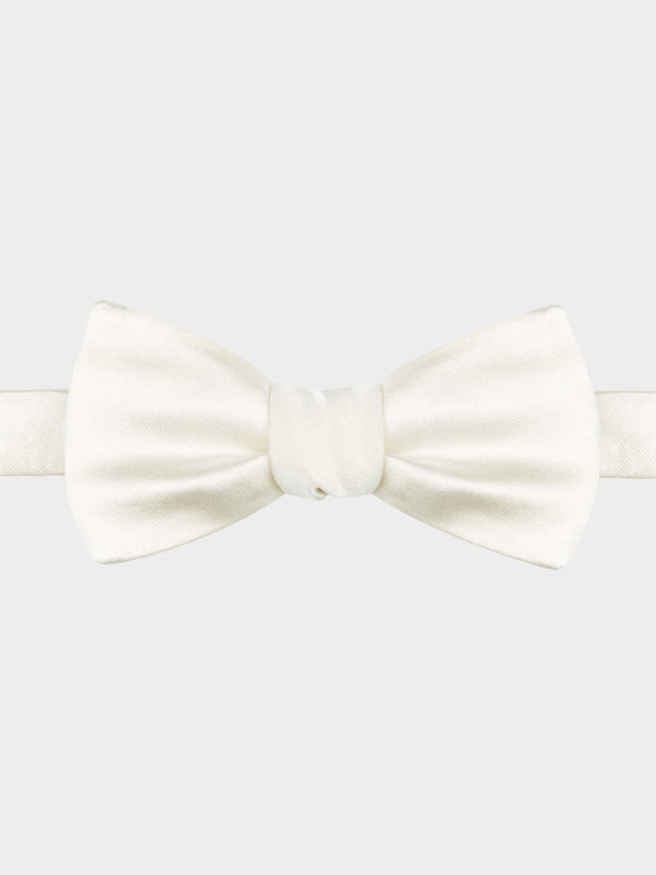 Plain-Satin-Bow-Tie-White