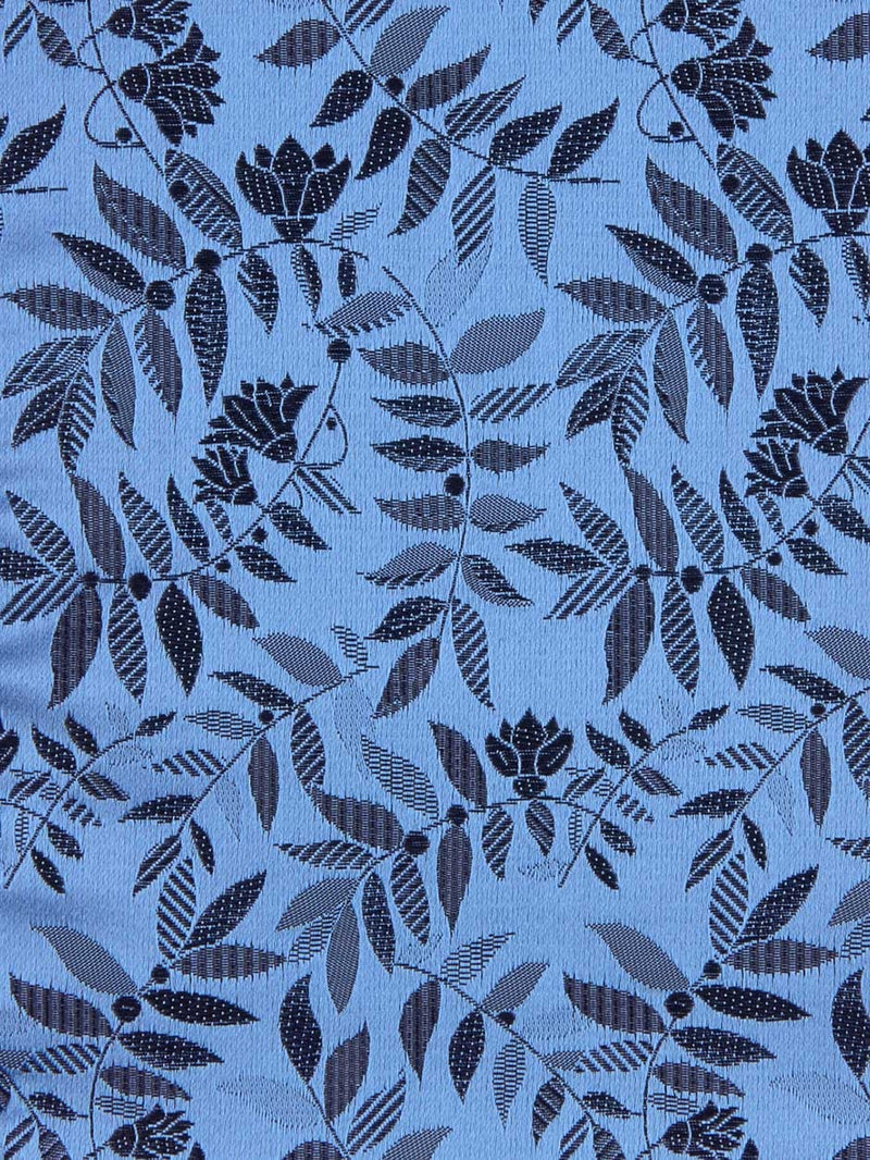 Tropical Floral Pocket Square Blue