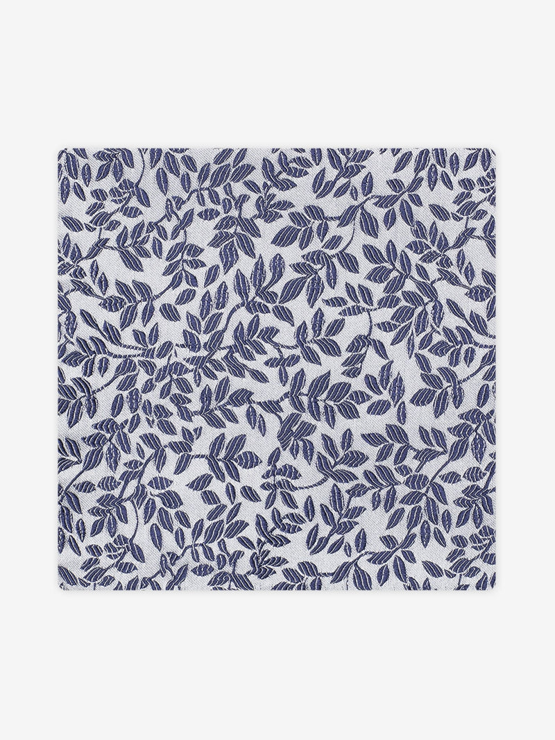 Garden Floral Pocket Square Navy