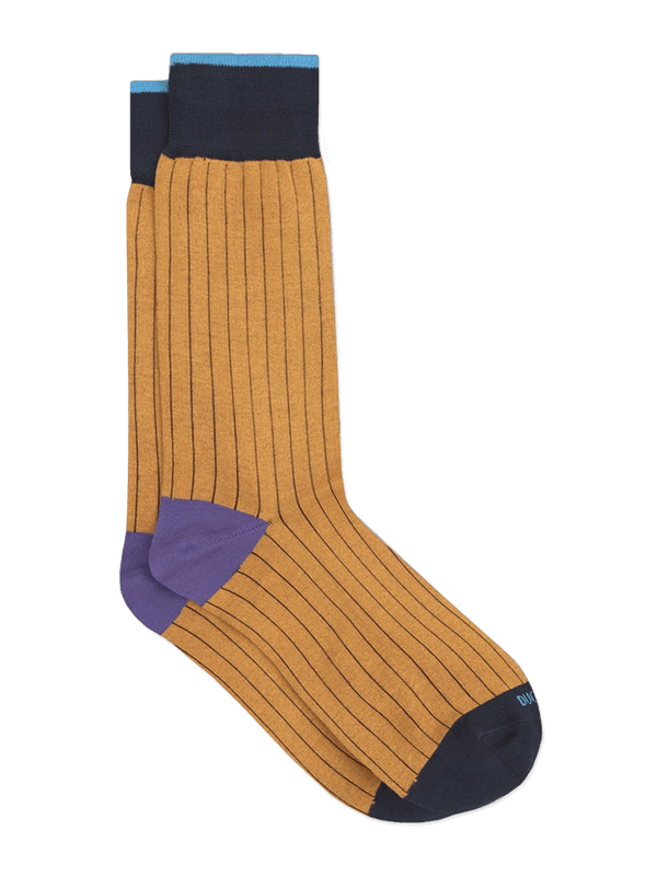 Bold-Plain-Sock-Yellow