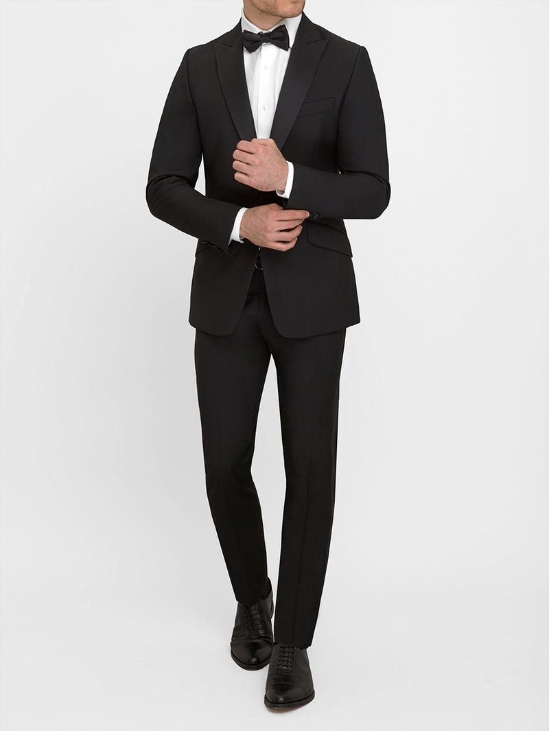 Peak Evening Wool Mohair Tuxedo Black