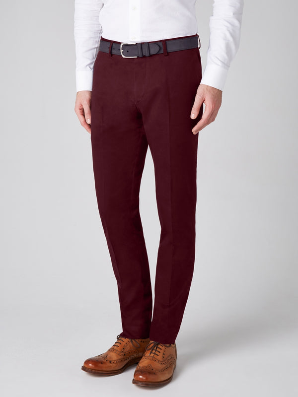 Plain-Twill-Trouser-Burgundy