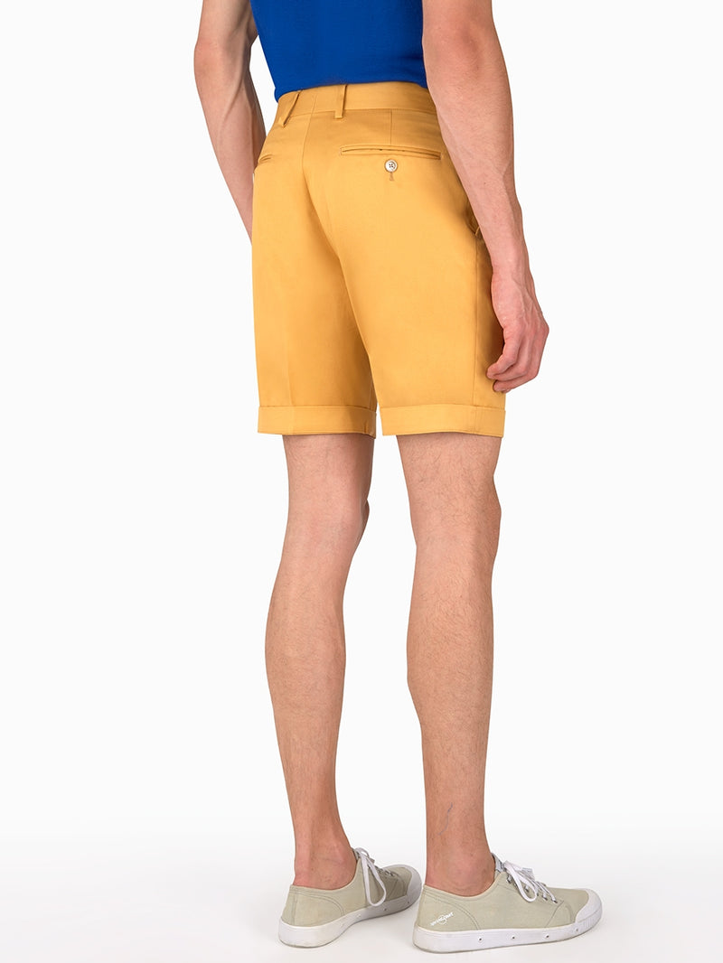 Plain-Twill-Shorts-Yellow