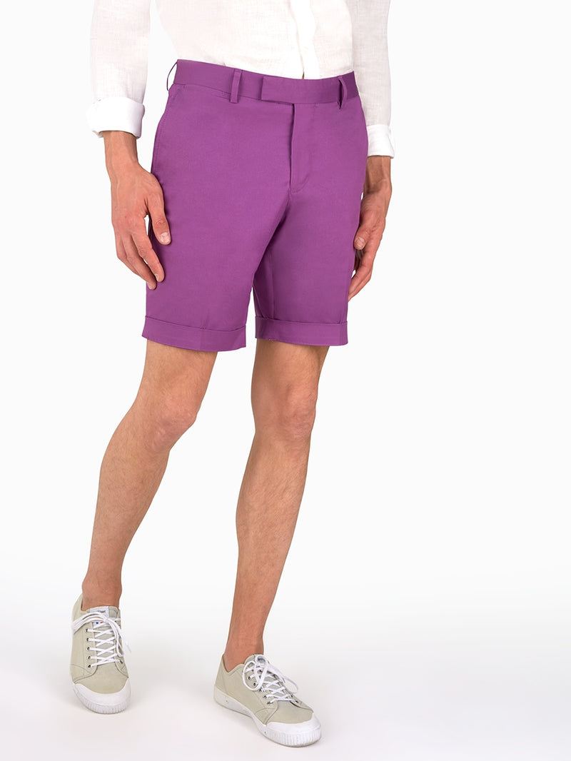 Plain-Fine-Twill-Shorts-Purple